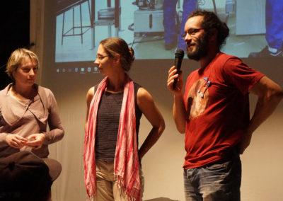 """Lydia Gracia, enseignante et Christian Vialaret, réalisateur présentent """"Mémoires tarnaises"""", production de l'atelier vidéo du lycée de la Borde Basse de Castres."""