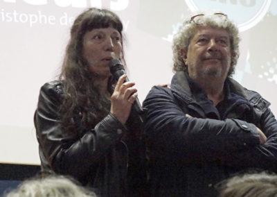 """Marie Bernar aux côté de Jean-Michel Rodrigo, réalisateur de """"Federico Montseny, l'indomptable"""""""