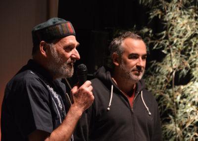 """Philippe Johannin, président d'Échos-ci, Échos-là aux côté d' Olivier Azam réalisateur de """"La cigale, le corbeau et les poulets"""""""