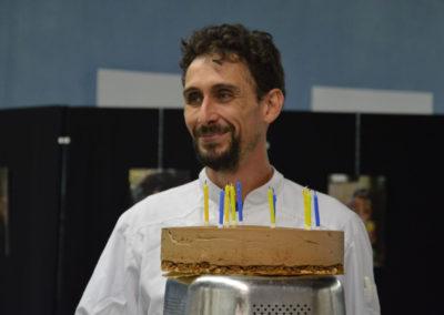 Olivier Assie, Notre chef cuisinier et son merveilleux gâteau d'anniversaire !