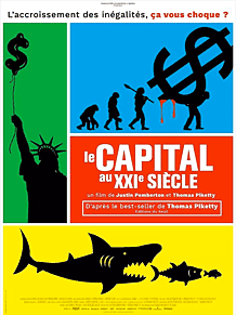 affiche du film documentaire Le Capital au XXIe siècle de Justin Pemberton, Thomas Piketty