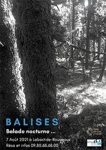 Affiche balade nocturne Balises, compagnie Toiles Cirées