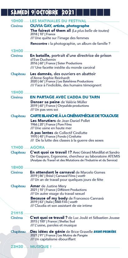 Programme du 14e Festival Échos d'ici, Échos d'ailleurs, sur les pas de Christophe de Ponfilly Samedi 9 Octobre 2021