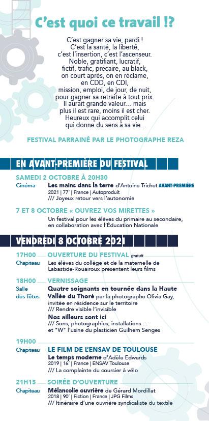 Programme du 14e Festival Échos d'ici, Échos d'ailleurs, sur les pas de Christophe de Ponfilly Vendredi 8 Octobre 2021