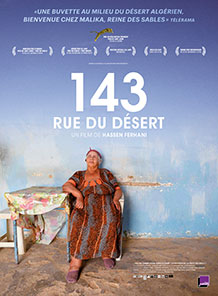 Affiche du film documentaire 143 rue du désert du réalisateur Hessen Ferhani